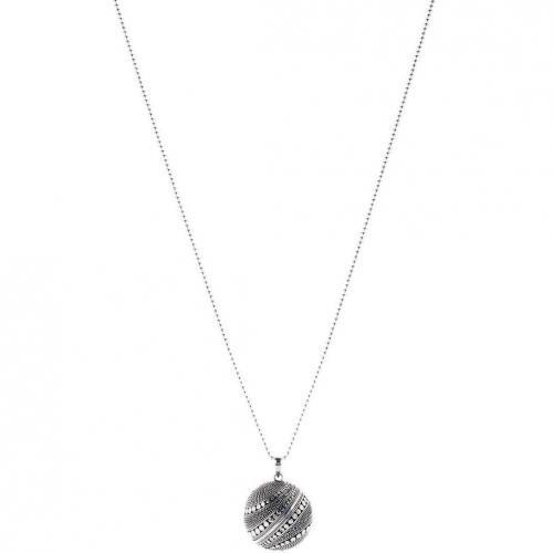 chilili Halskette silber Kugel mit feinen Pünktchen besetzt