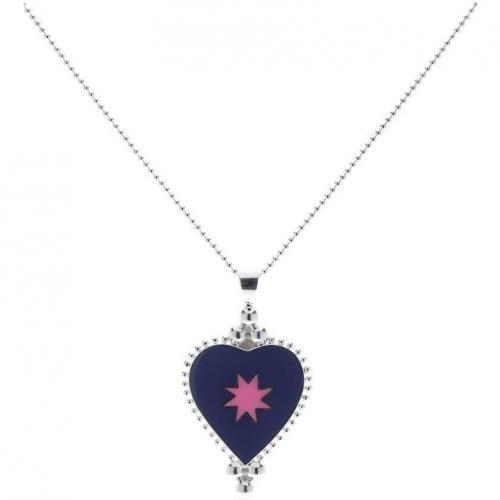 chilili Halskette silber/ violettpink