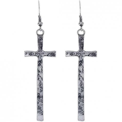 Club Manhattan Cross Ohrringe anitque silver