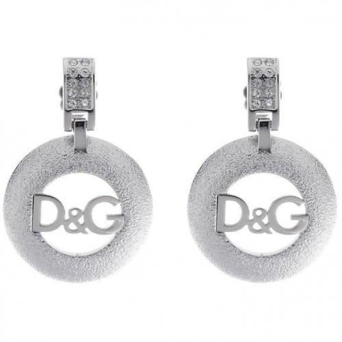 D&G Ohrringe acier beweglicher Anhänger mit D&G Prägung