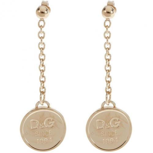 D&G Ohrringe acier gold Anhänger mit Labelgravierung