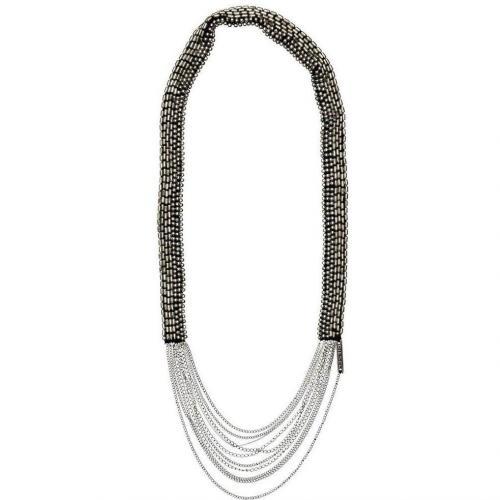 Diesel Arenz Halskette schwarz/silber
