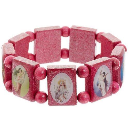 Escapulario Armband pink kirchliche Motive
