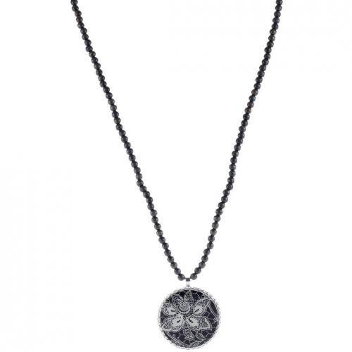 Escapulario Halskette schwarz leicht glitzernde Holzlasur