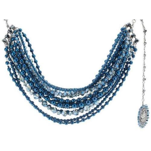 Konplott Halskette blue 15 Steinreihen