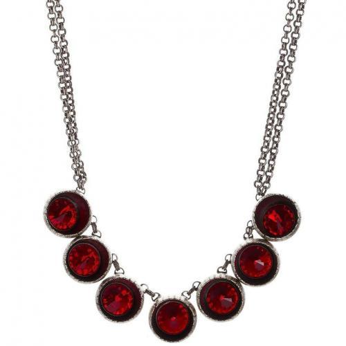 Konplott Halskette red light siam eingelassene, geschliffene Steine