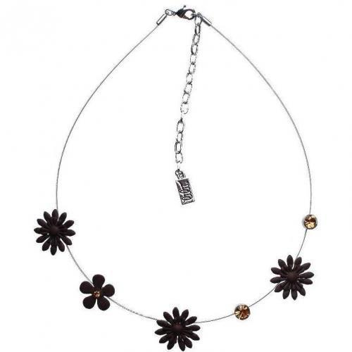 Lilii BLÜmchen Halskette braun