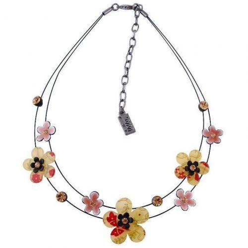 Lilii Blumen Halskette braun