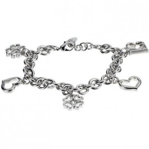 Lk Bennett Monogram Charm Bracelet Armband silver