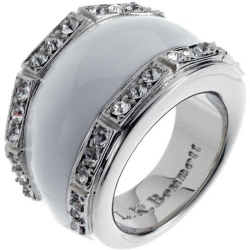 Lk Bennett Pave And Enamel Ring white