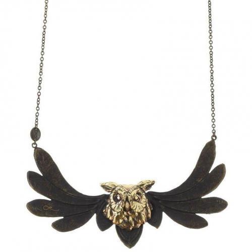 Lotta Halskette brass Messing Flying Bird