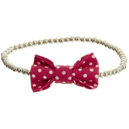 Louche Spot Bow Armband red