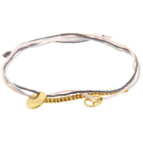 Lua Armband gold gold-farbene Anhänger und Perlen