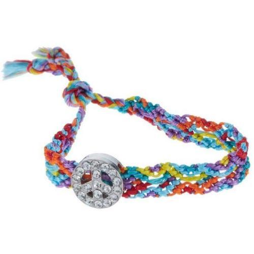 Lua Summer Love Armband türkis Peaceanhänger mit Zirkonia-Steinen