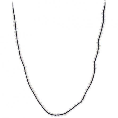 Lulu Jane Halskette weiß perlenumrandendes Lederband
