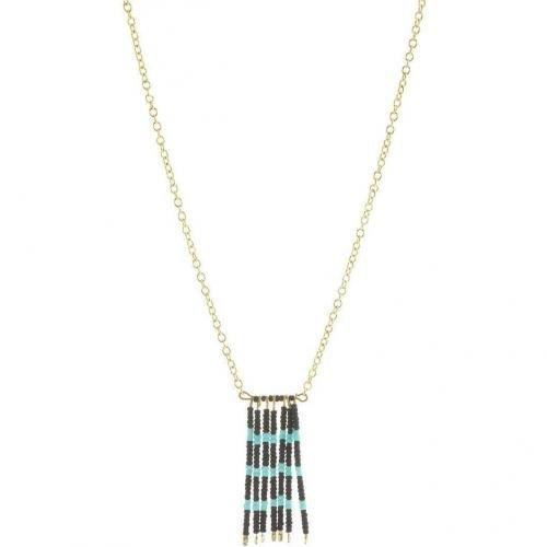 Maison Scotch Halskette gold Anhänger mit kleinen Perlen