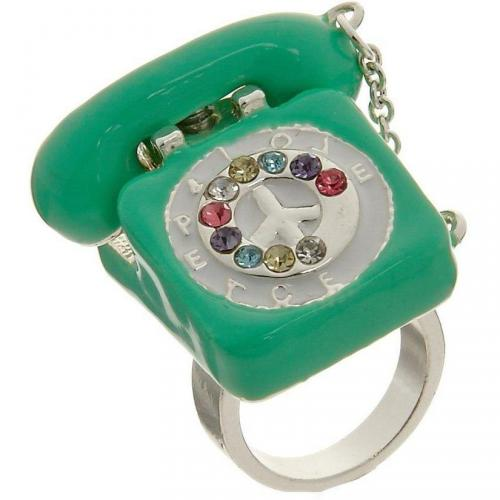 Me & Zena Dream Phone Ring silver/green