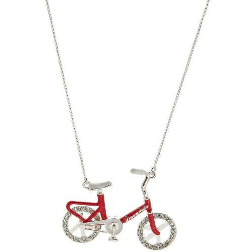 Me & Zena Dream Wheelz Bike Halskette silver/red