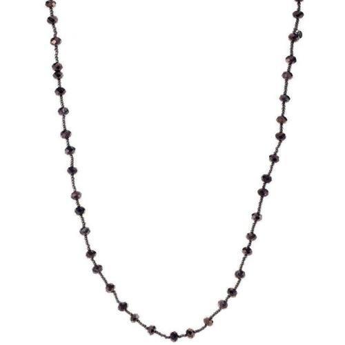 Mexx Halskette black fein geschliffene Perlen
