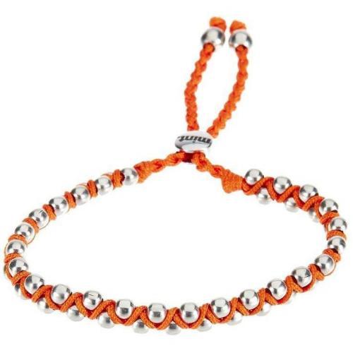 mint Armband orange aufwendig geflochtenes Textilband