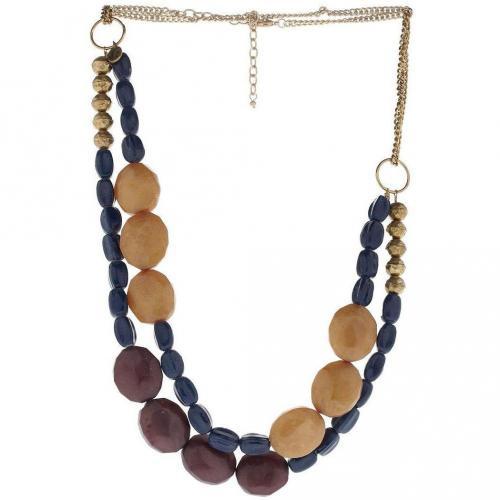 Nice Things Halskette blau/violett/gold