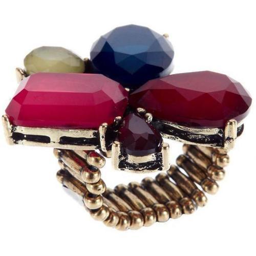 Nice Things Ring blau rosa rot gold