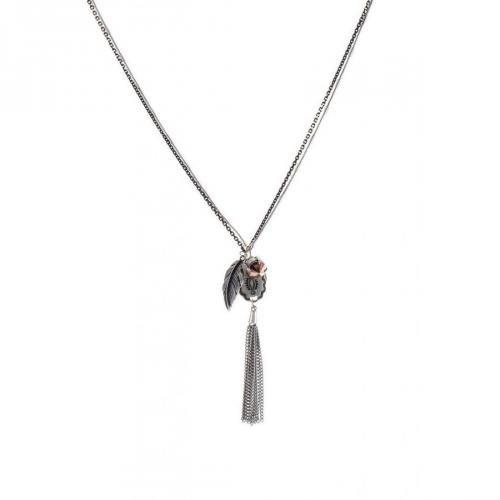 Orelia Halskette silver diverse Anhänger