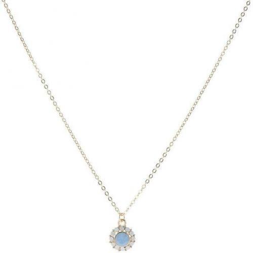 Orelia Ohrringe air blue opal mit Swarovski-Kristallen besetzt