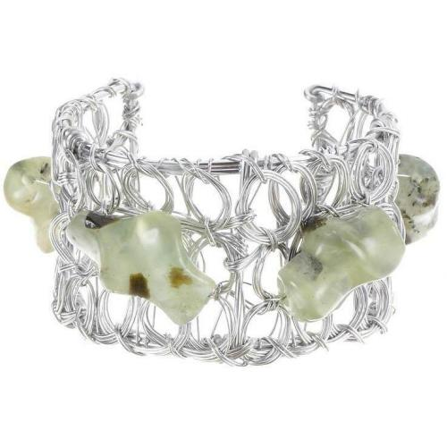 Private Suite Belle Silver Armband green