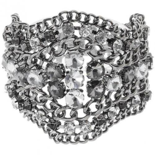 Scooter Armband argent/black/crystal