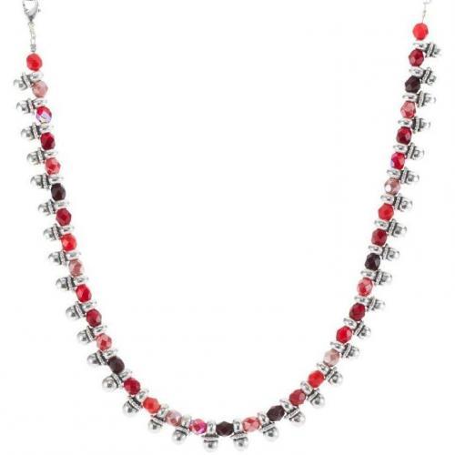Scooter Halskette argent/multi rouge