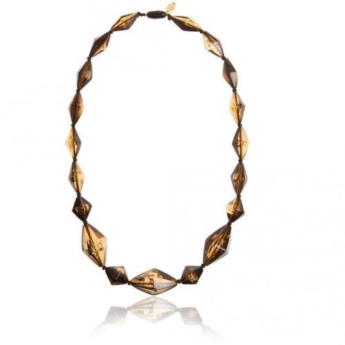 Silvio Tossi Halskette schwarz/beige