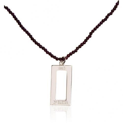 SNÖ of Sweden Halskette lila/silber Halskette in elegantem Design