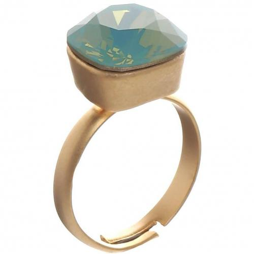 sweet deluxe Grisette Ring gold/pazifik opal