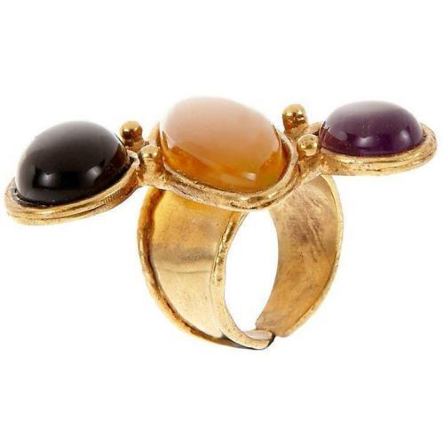 Sylvia Toledano Sweetie Ring multicolor 1 Amethyst, Chalcedon & Onyx