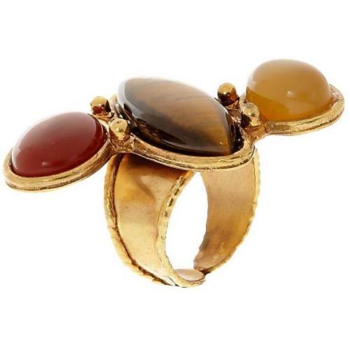Sylvia Toledano Sweetie Ring multicolor Tigerauge, Chalcedon & Karneol