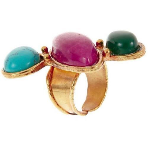 Sylvia Toledano Sweetie Ring multicolor Türkis, Chalcedon & Rubin