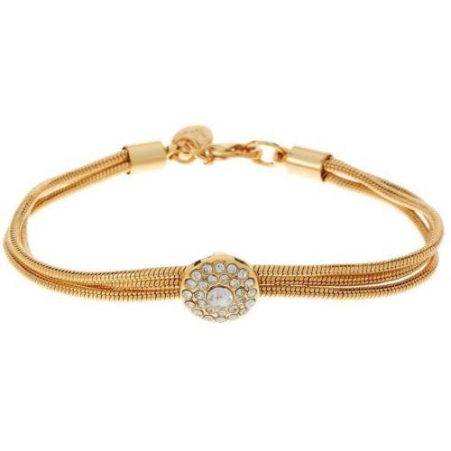 Tokyo Jane Armband gold runder Stein mit Glitzersteinen