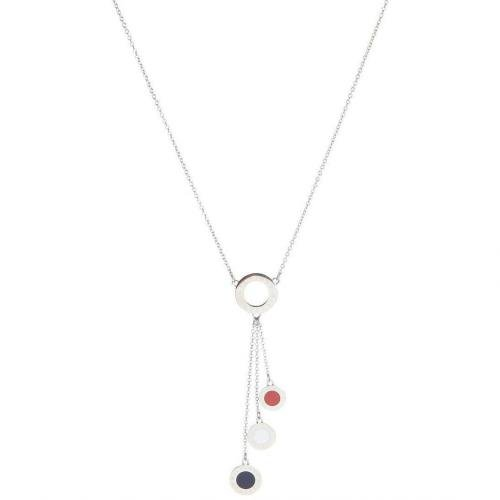 Tommy Hilfiger Halskette silber Anhänger mit Emaille