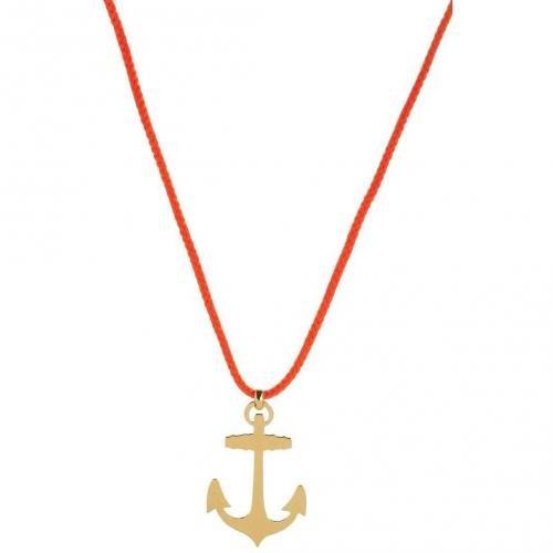 TomShot Halskette gold/rot leuchtende Kordel