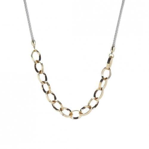 TomShot Halskette gold/weiß