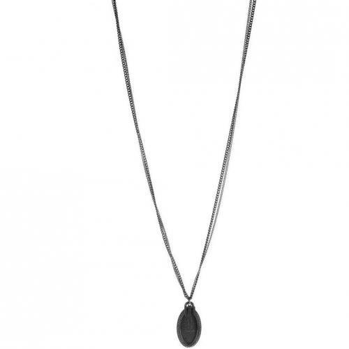 Tree Halskette silver Anhänger mit Schriftzug