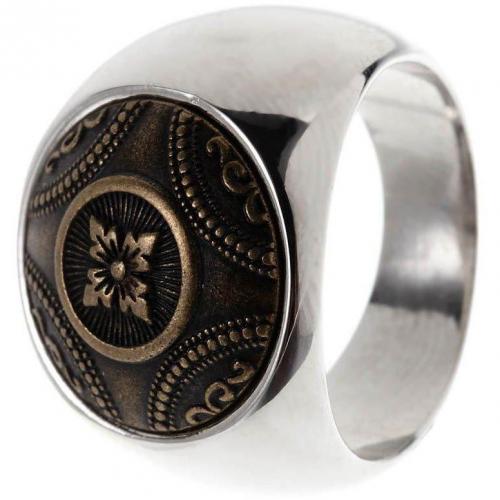 Tree Ring silver Vintage-Look