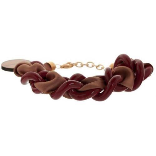 Vanessa Baroni Armband dunkelrot/braun