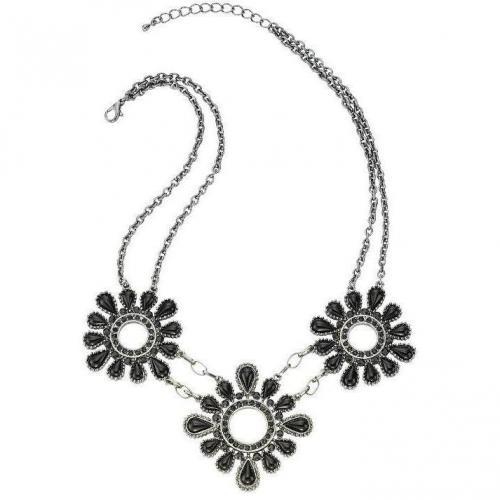 ZeEme Halskette schwarz Länge 43 + 5 cm