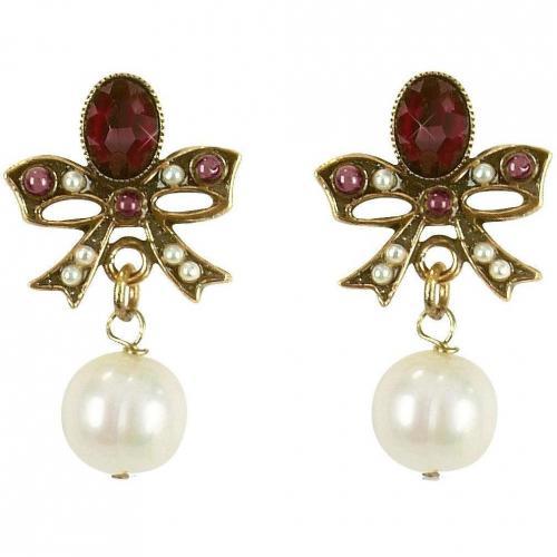 Alcozer & J Ohrringe mit Schleife und Perlen