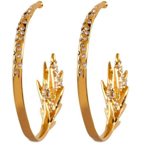 Alexis Bittar Gold Small Spiked Tail Hoop Ohrringe