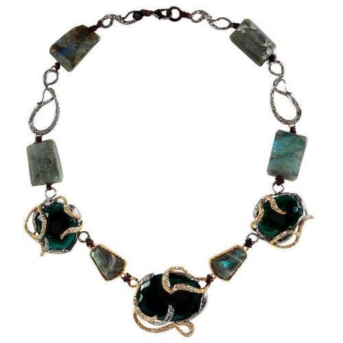 Alexis Bittar Labradorite/Midnight Vine Encrusted Halskette