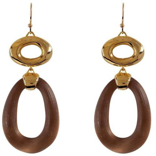 Alexis Bittar Warm Sepia/Gold-Toned Modular Link Ohrringe