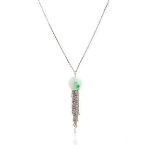 Ana de Costa Grüne Jade und Diamant Anhängerkette